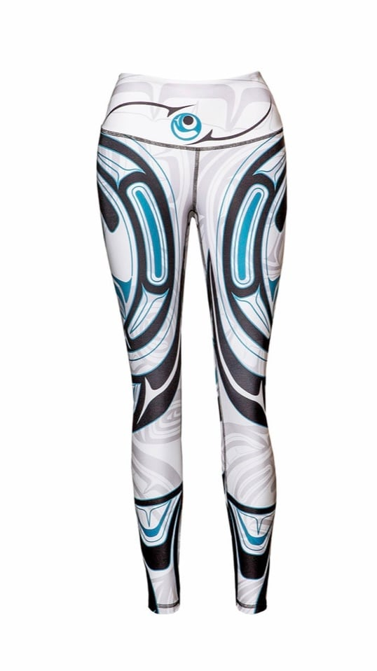 Wolf and Moon White Legging