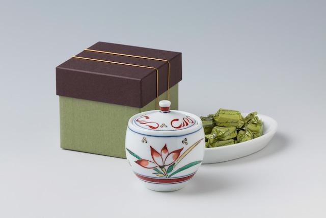 花絵蓋物とNagasaki 抹茶チョコレート