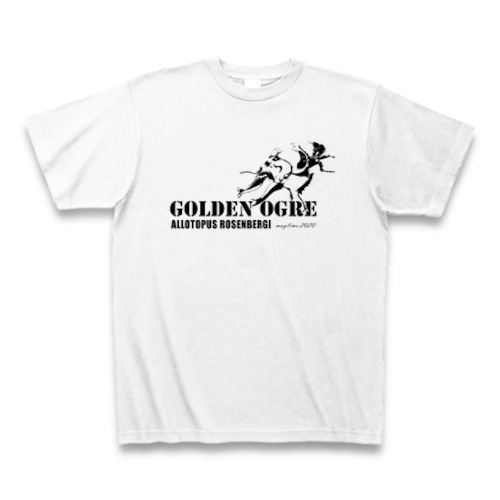 オウゴンオニクワガタ Tシャツ -maylime- オリジナルデザイン ホワイト