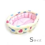ふーじこちゃんママ手作り ぽんぽんベッド(サテンライトピンク・ハート柄) Sサイズ 【PB2-122S】
