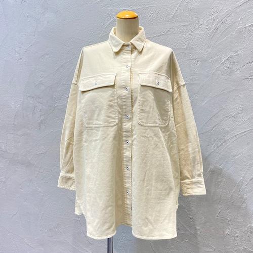 Healthy DENIM/コーデュロイビッグシャツAlmond【Chalk】