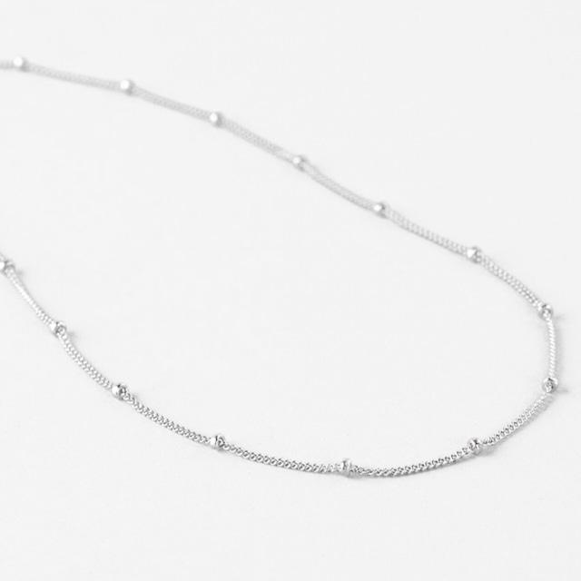 316L Satellite Chain Necklace 【SILVER】