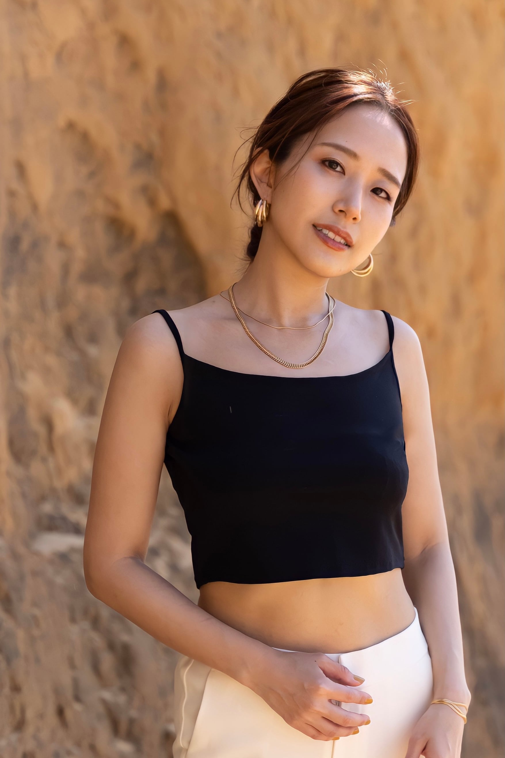 Cropped knit camisole