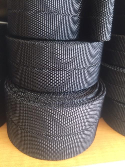 ナイロンテープ センタートジ織 25㎜幅 黒 5m