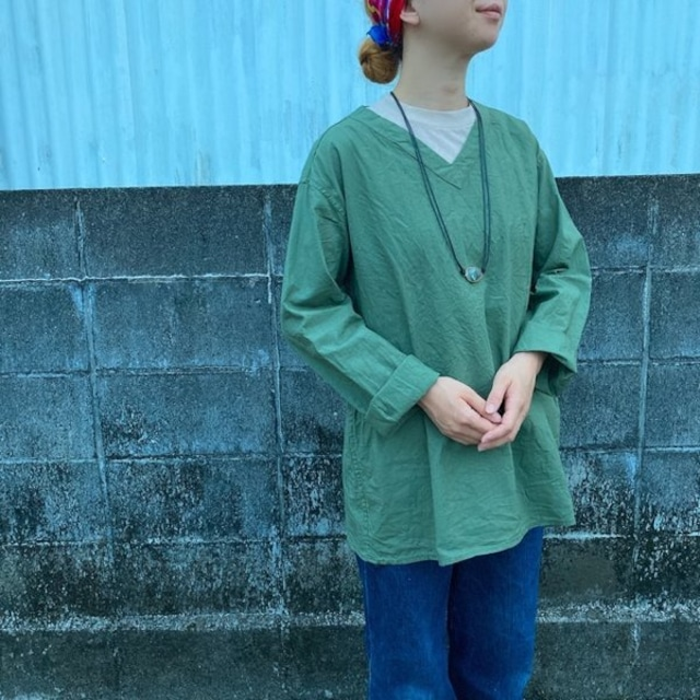 ロシア スリーピングシャツ グリーン