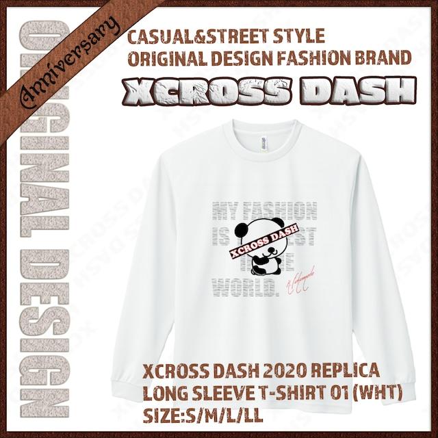 XCROSS DASH 2020 REPLICA Long sleeve T-SHIRT 01 (WHT) レプリカデザイン長袖Tシャツ