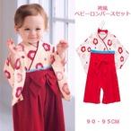 【即納】ベビー服 袴風 カバーオール ロンパース 靴下セット S512