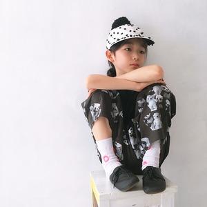 MONDEWORK まる刺繍SOCKS #5 白×ピンク刺繍