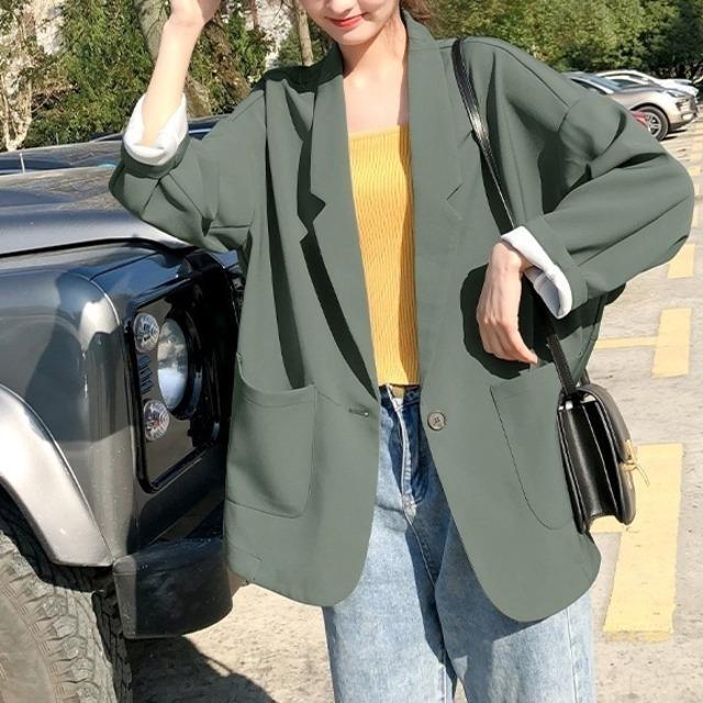 ジャケット ブラック カーキ グリーン 秋 ママ オフィス 30代 40代 OL すっきりシルエット レディース 秋 フォーマルジャケット テーラード 女性 トップス