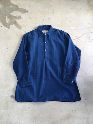 DA'S,Customized/本藍染めしたグランパシャツ(チェック柄)