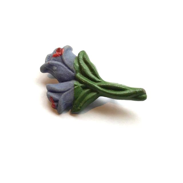 紫お花のヴィンテージブローチ