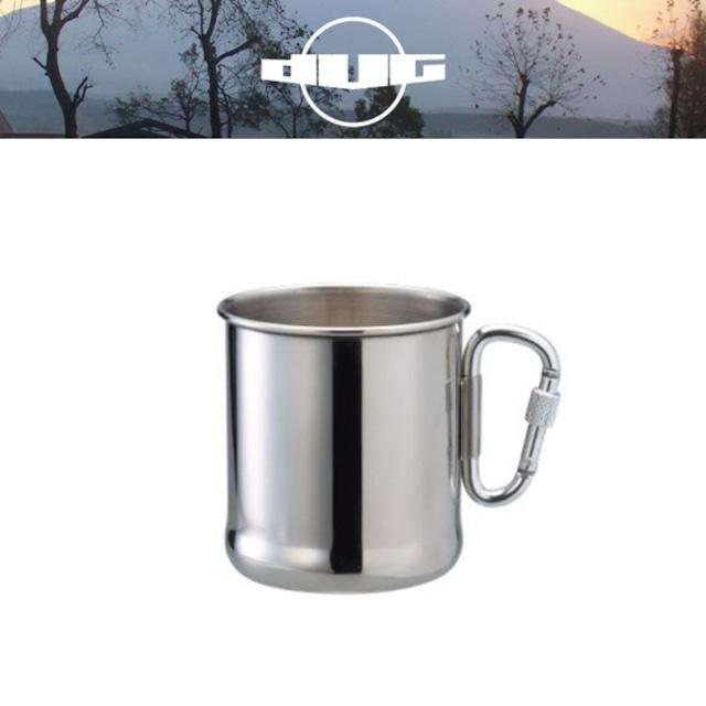 DUG(ダグ) 環付カラビナマグ DG-0501 アウトドア サバイバル キャンプ グッズ マグカップ ステンレス