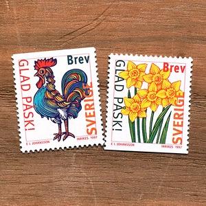 切手(未使用)「ハッピー・イースター - 2種セット(1997)」