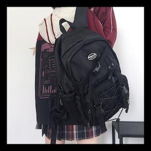 【お取り寄せ】編み上げ ベルト 通学 リュック 4色
