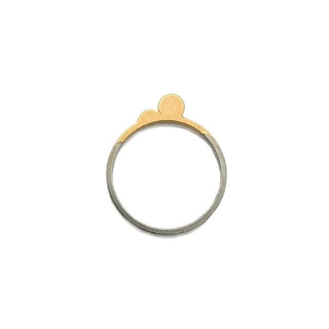"TAZOE(タゾエ) Punch hole project ring ""Tankobu"" リング"