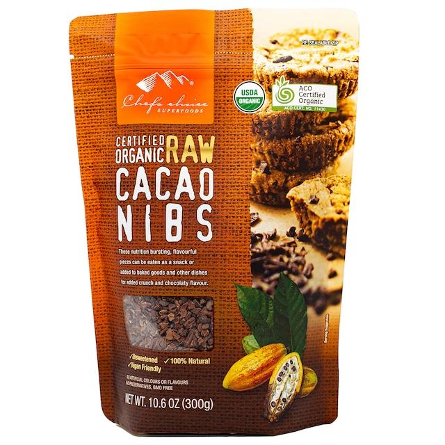 シェフズチョイス オーガニックローカカオニブ 300g Organic Raw Cacao Nibs