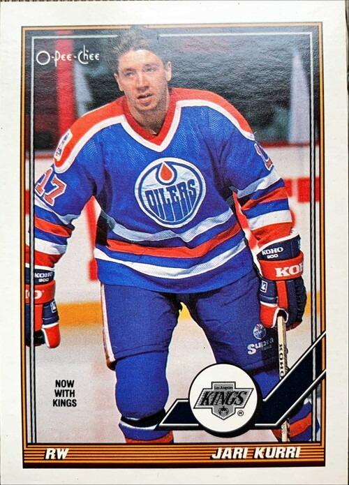 NHLカード 91-92 O-PEE-CHEE JARI KURRI #295 KINGS