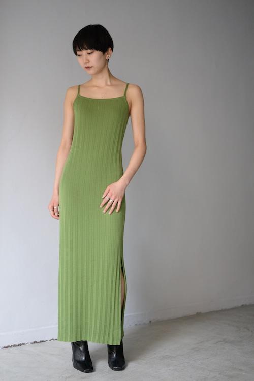 ROOM211 / Pleats knit Dress (light green)