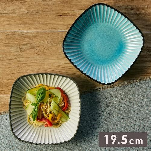 MM-0075 【19.5cm レリーフ角鉢】 パスタやサラダなど色んなシーンで使えるアジアンテイストなうつわ。