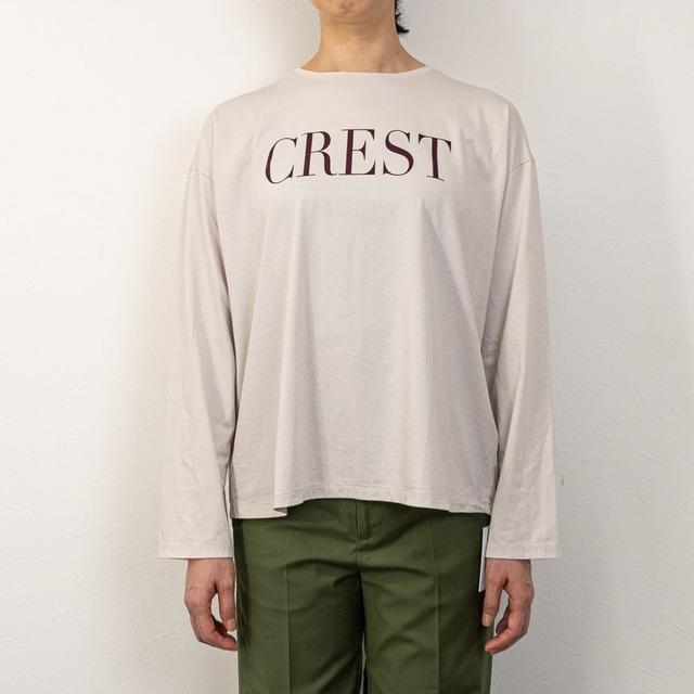 "【MICA&DEAL/マイカアンドディール】""CREST""ロングスリーブTシャツ(ベージュ)"