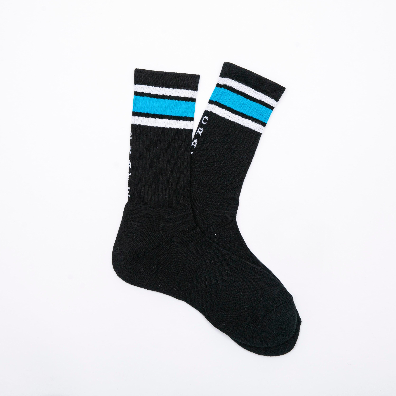 LINE SOCKS BLACK×BLUE
