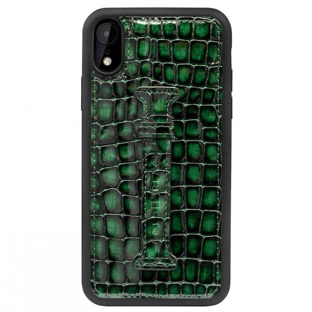 ゴールドブラック(GOLDBLACK) iPHONE XR FINGER-HOLDER CASE MILANO GREEN 19296
