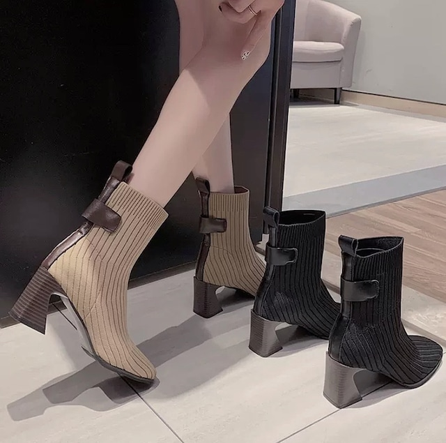 stretch socks boots 2color