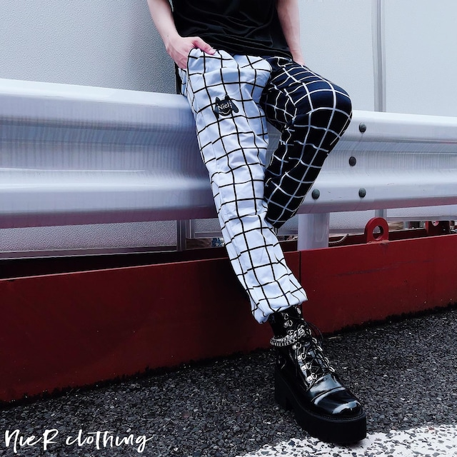 CHECKRED TWO-TONE PANTS