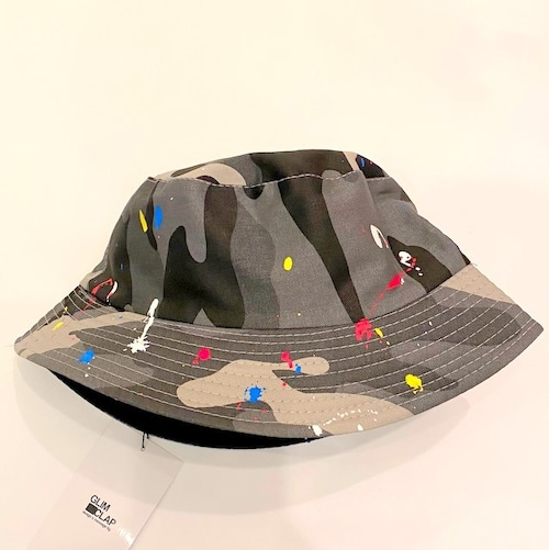 Painting Processing Camouflage Pattern Hat Gray