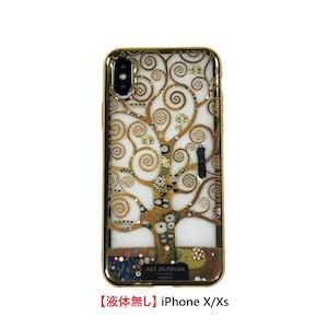 【液体無し】 ARTiFY iPhone X/Xs メッキTPUケース クリムト 生命の樹 AJ00526