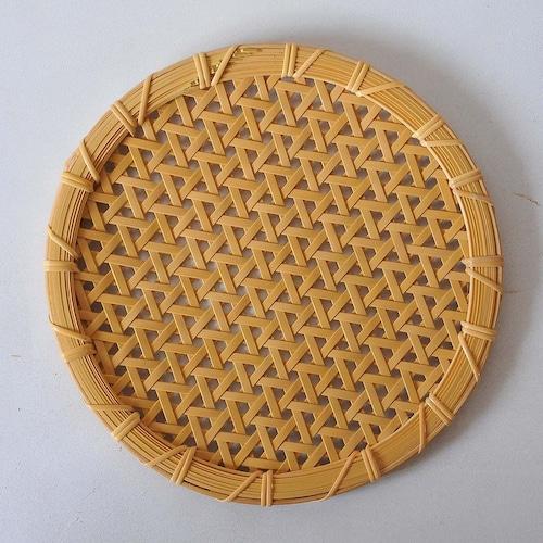 一木律子 丸皿(大)亀甲編み