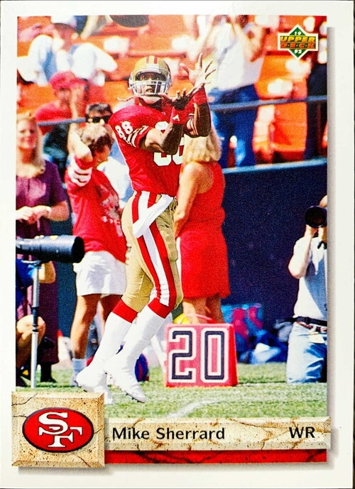 NFLカード 92UPPERDECK MIKE SHERRARD #465 49ERS