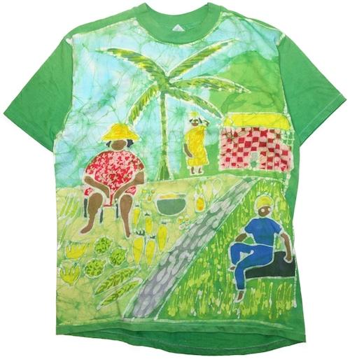 90年代 ろうけつ染 Tシャツ 【XL】   ヴィンテージ 古着