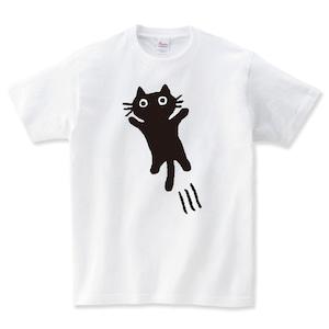 飛びかかってくる猫 Tシャツ メンズ レディース 半袖 大きいサイズ