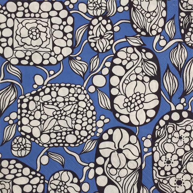 【nanso】バラ売り1枚 ランチサイズ ペーパーナプキン KORU ブルー