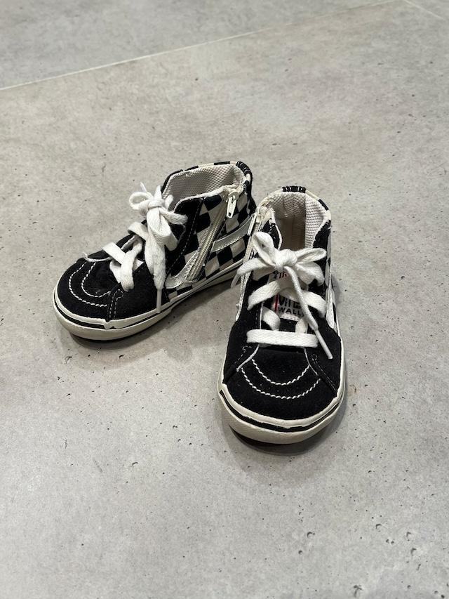 (KD262) 15cm VANS SK-8 Hi checked sneaker