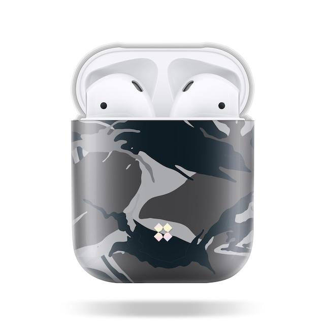 CaseStudi ケーススタディ PRISMART AirPods Case 2018 エアーポッズ ハード ケース 男女兼用 カモフラ 迷彩 Camo Black 国内正規品