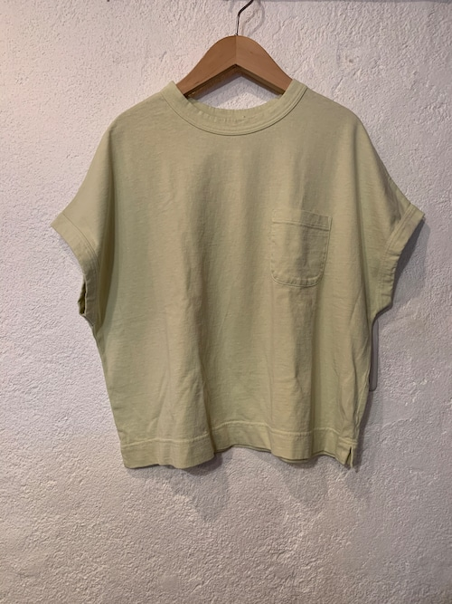 days/アメリカンドライ天竺ポケットTシャツ ライム