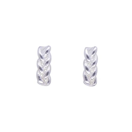 Knitted small pierced earrings