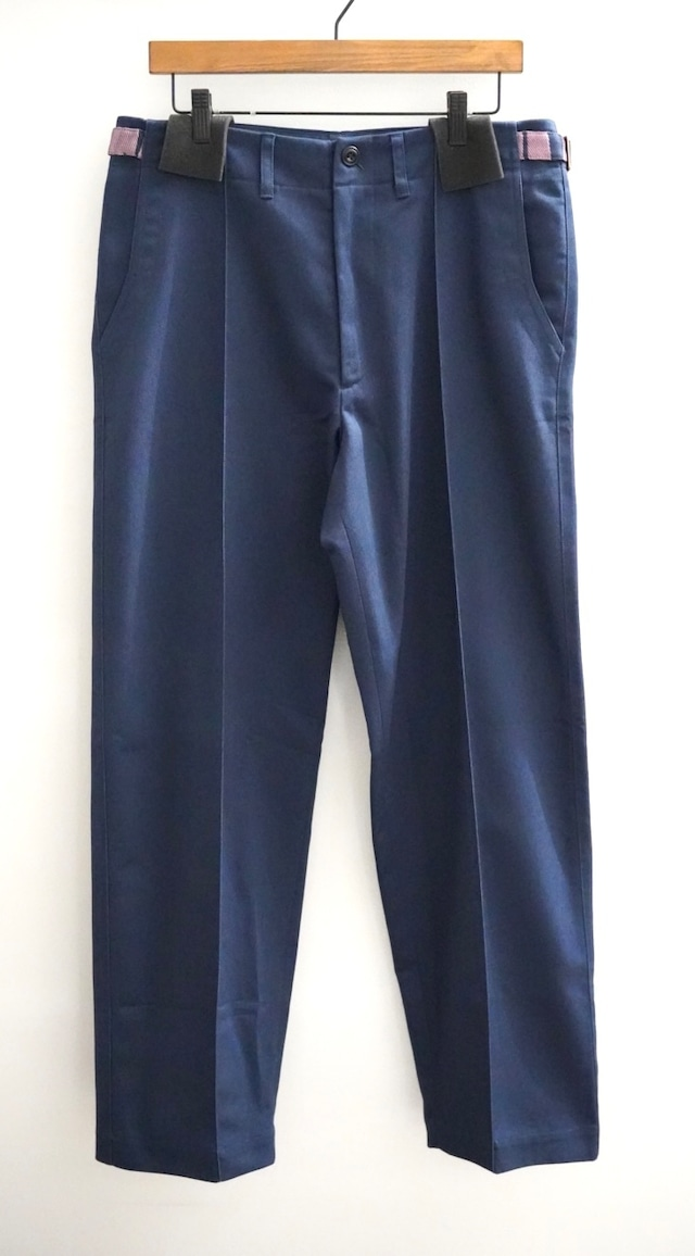 NICHOLAS DALEY  /70's TROUSERS - Cotton with Silk Jacquard(NAVY)