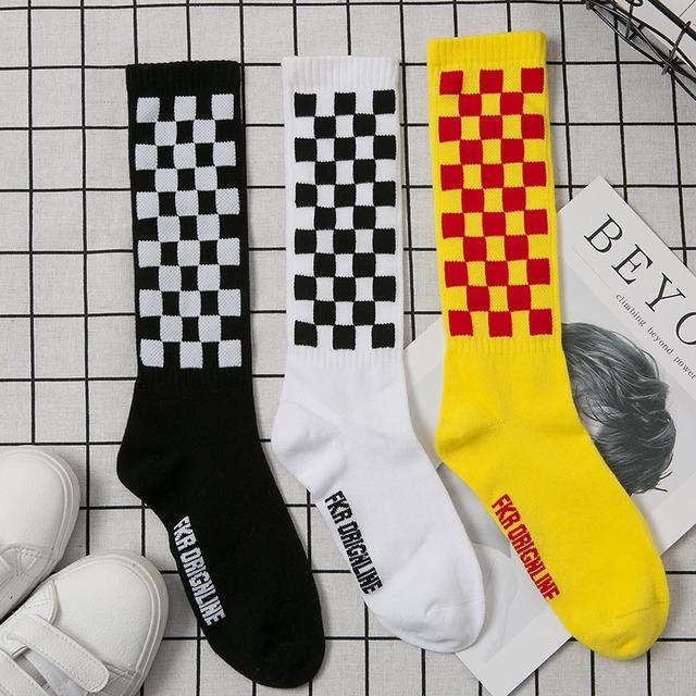 【小物】ファッションチェック柄アルファベットソックス靴下43176364