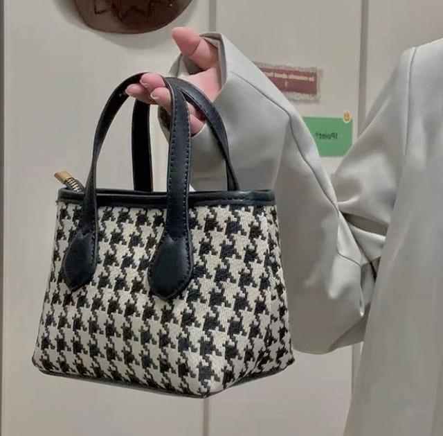 pied hand bag