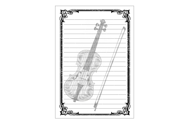 バイオリンのレターセット