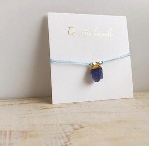 Birth stone bracelet (Aquamarine) / on the beach   OBH-45
