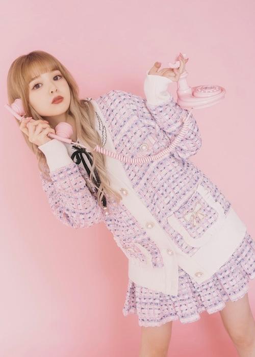 【ManonMimie】Pink Tweed Set-Up