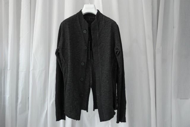 THOM KROM / STAND COLLOR EASY JACKET / BLACK OIL