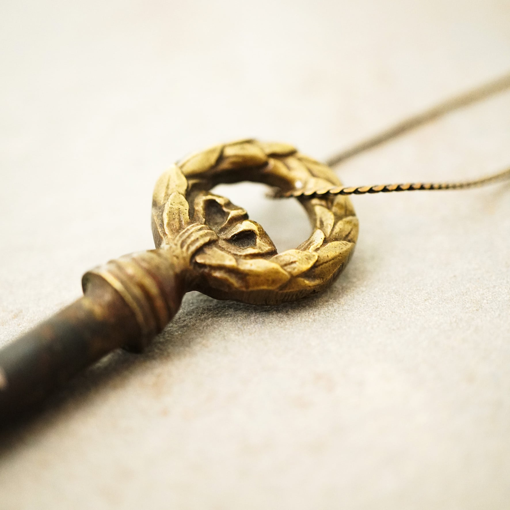 【FRENCH ANTIQUE】KEY CHARM NECKLACE / C