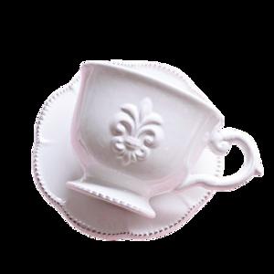 Damask logo cup and saucer/ ダマスクロゴ カップアンドソーサー