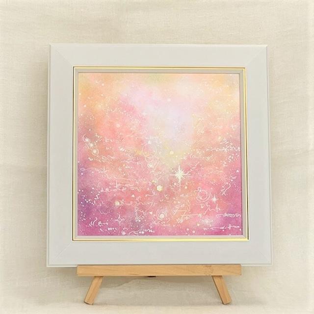 『十二星座-宇宙からの愛』20cm角サイズ あなたの生まれ星座でオーダーメイドパステルアート