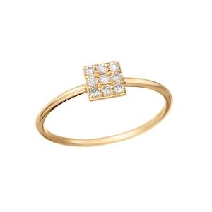 K18YGダイヤモンドリング 010201009176